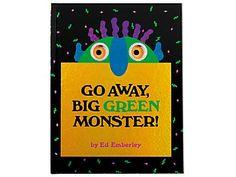 Go Away, Big Green Monster! (Hardcover) by Ed Emberley Big Green Monster, Monster Go, Monster Books, Petite Section, Kindergarten Smorgasboard, In Kindergarten, Good Adjectives, Ed Emberley, Nouns And Verbs