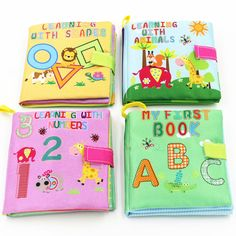 4 Style Baby Toys Soft Cloth Books Rustle Sound Infant Educational Stroller Rattle Toy Newborn Crib Bed Baby Toys Months - Kid Shop Global - Kids & Baby Shop Online - baby & kids clothing, toys for baby & kid Baby Shop, Baby Monat Für Monat, Educational Baby Toys, Learning Shapes, Baby Supplies, Baby Rattle, Baby Month By Month, Toddler Toys, Baby Care