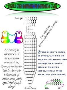 Kandi tie pattern Source by dontanswerit Kandi Mask Patterns, Pony Bead Patterns, Beading Patterns, Bracelet Patterns, Stitch Patterns, Pony Bead Projects, Beading Projects, Kid Projects, Diy Kandi Bracelets