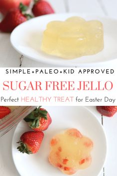 This healthy sugar-free jello is perfect for Easter. It is paleo-approved, dye-free, and your kids won't even notice the difference. It is no secret that we do things a little bit differently over here, but Healthy Snacks For Kids, Healthy Treats, Healthy Desserts, Healthy Cooking, Paleo Jello, Paleo Recipes, Real Food Recipes, Homemade Jello, Sugar Free Jello
