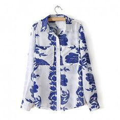 Sleeve chiffon shirt as the picture s in blouses dresslily com