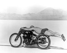 Record de velocidad en motocicleta, 1948.