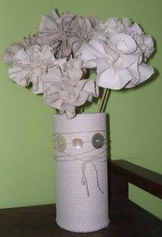 Cómo hacer un ramo de flores de tela