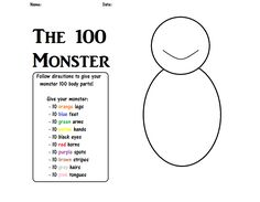 100th Day of School - 100 monster