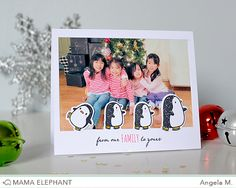 Loving the new sneak peeks from mama elephant | design blog: First Look: Arctic Penguins, Jolly and Merry