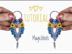 Micro Macrame Owl Key Chain 3 ♥DIY♥ - YouTube