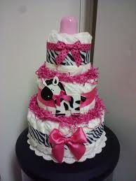 Modern Hot pink ZEBRA diaper cake, baby shower decoration via Etsy Baby Shower Diapers, Baby Shower Cakes, Baby Shower Gifts, Baby Gifts, Zebra Diaper Cakes, Nappy Cakes, Baby Shower Centerpieces, Baby Shower Decorations, Baby Zebra