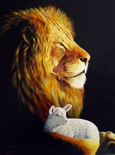 From James and Bhari Long Lion And Lamb, Images Of Christ, Spiritual Images, Prophetic Art, Christian Wallpaper, Jesus Art, Biblical Art, Lion Of Judah, Jesus Is Lord