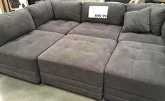 gray sectional sofa costco couch sectional sofa com emerald sofas set leather furniture microfiber Grey Sectional Sofa, Fabric Sectional, Sectional Furniture, Living Room Sectional, Home Living Room, Love Sac Sectional, Sofa Slipcovers, Ideas, Couches