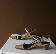 NEW Giorgio Armani brown Summer sandals Sz 8M(Euro 38.5M) #GiorgioArmani #OpenToe