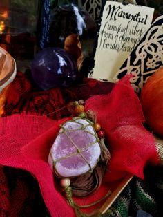 ROUGH ROSE QUARTZ necklace for heart chakra balancing by Marantul