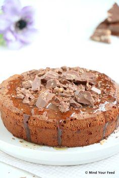 salted caramel brownie taart