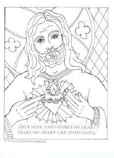 Catholic Coloring Pages - thought maybe we could simplify some of these for tracing packets or even use as art work in the atrium