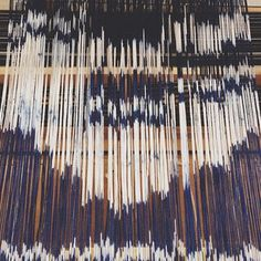 It is the vertical strands of material which the weft is woven through. Textiles, Textile Patterns, Print Patterns, Textile Dyeing, Textile Art, Silk Fabric, Woven Fabric, Painted Warp, Fabric Manipulation