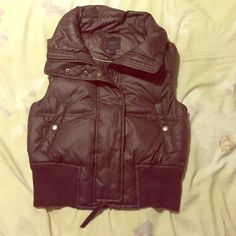 Express Down Vest Lightly used! Real down. Zip vest. Super cute. Express Jackets & Coats Vests