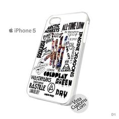 All Band Logo and 5 seconds of summer New Hot Phone Case For Apple, iPhone, iPad, iPod, Samsung Galaxy, Htc, Blackberry Case