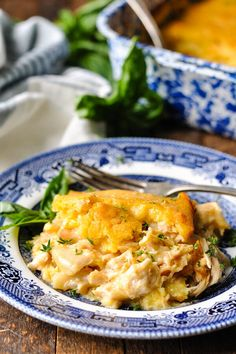 Cozy, down-home comfort food! This Farmhouse Chicken Cornbread Casserole is an easy dinner recipe that the whole family will love. The sweet cornbread topping is paired with a creamy and cheesy chicken filling for a classic, hearty supper that will warm you from the inside out. Chicken and cornbread is a match made in heaven, right?! Whether it's fried chicken and cornbread, chicken tenders paired with corn muffins, or BBQ Chicken Cornbread Casserole, we can never get enough of the…