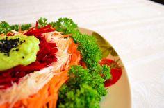 salata cruditati Yummy Food, Tasty, Raw Vegan, Broccoli, Cabbage, Avocado, Spaghetti, Food And Drink, Cooking Recipes