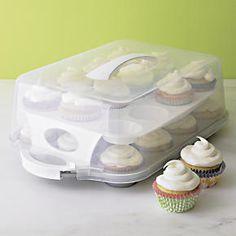 24-Cup Cupcake Carrier in Top Cookware, Bakeware | Crate and Barrel