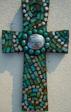 Believe by Broken Beauty Mosaics by BrokenBeautyMosaics on Etsy, $99.00