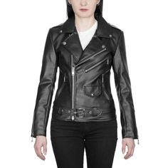 Shop Lady's Vegan Commando II - Black Artificial Leather Jacket - Nickel Hardware from Straight To Hell Apparel. Live loud.