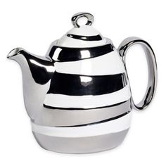 Studio TU® by Tabletops Unlimited® Sterling 37 oz. Teapot in Silver - BedBathandBeyond.com