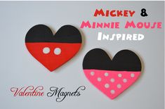 Mickey and Minnie Inspired magnets