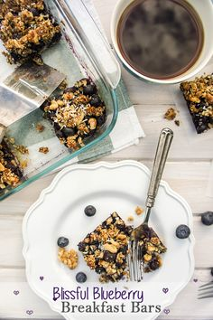 Blissful Blueberry Breakfast Bars / These sugar-free treats can certainly be…
