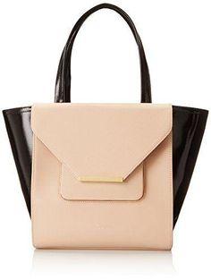 32ed3ee7672c Ted Baker Roselle Patent Crosshatch Shoulder Bag Black Leather Bags