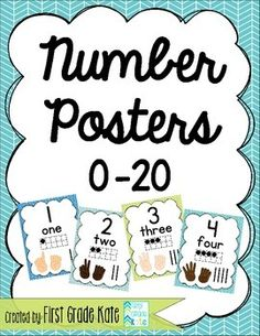 Add some cheer to your classroom while giving your students a valuable math resource! (Also available: matching alphabet posters in either manuscript or D'Nealian!)  $