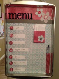 Menu board (cookie sheet)