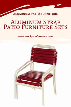 Aluminum Strap Patio Furniture Sets There are some forms of metal strap pieces of furniture that don't stick These pieces usually have more details and accessories that do not allow for stacking. These extra accessories, however, add barely of class to an otherwise easy piece of furniture, and the reduced storage capacity may be worth sacrificing for a more up-scale patio look. So what's out there for metal strap terrace piece of furniture sets? Some sets are easy to double wrapped vinyl straps, Patio Furniture Sets, Outdoor Furniture, Aluminum Patio, Outdoor Chairs, Outdoor Decor, Terrace, Porch, Scale, Storage