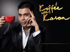 Filmmaker Karan Johar shot for the promo of the fifth season of 'Koffee with Karan' on Sept 30.