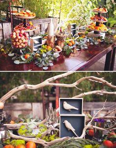 Сервировка и декор сладкого стола