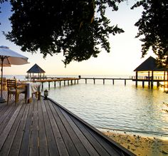 Lunch by the ocean with views of the sunset: Maldives