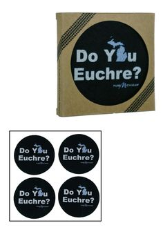 Show off that you're a Michigander who is eco-friendly with these fun coasters made from 100% recycled tires.
