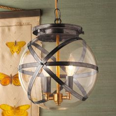 Steam Punk Indoor and Outdoor Hanging Lantern\ Industrial meets modern with this unique outdoor hanging lantern made in America.