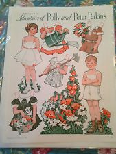 Vintage Paper Dolls Adventures of Polly & Peter Perkins - Pictorial Review 1934