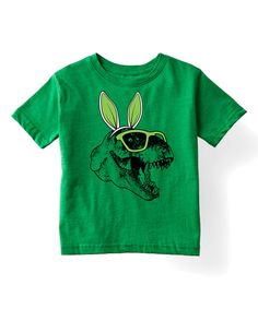 Kelly Green Bunny Ears T-Rex Tee - Toddler & Kids by Festuvius #zulily #zulilyfinds