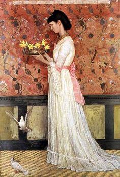 Walter Crane   Portrait de Mme Ingram Bywater