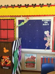 Peter Pan Themed Math Board - Space to hang my math anchor charts