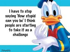 Discover and share Stupid Funny Quotes And Sayings. Explore our collection of motivational and famous quotes by authors you know and love. Funny Duck, Funny Love, Haha Funny, Stupid Funny, Funny Kids, Lol, Funny Stuff, Hilarious, Fun Funny