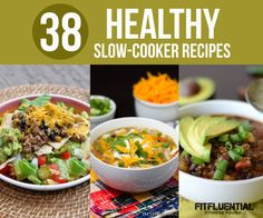 38 crockpot recipes from @FitFluential #Fitfluential