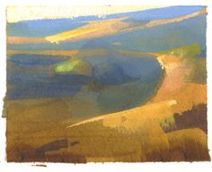 That does it-I'm signing up for lessons in watercolor. Love this! Land Sketch by Nathan Fowkes