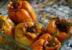 Arabic Stuffed Bell Peppers (Fil Fil Mahshi) | Wandering Spice