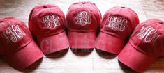 MONOGRAMMED Baseball Hat for Ladies, Personalized Baseball Cap for Women, Bridesmaid Gift