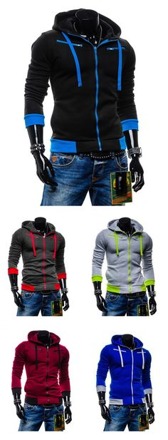 Men's Sports Going out Casual/Daily Simple Active Street chic Hoodie Jacket