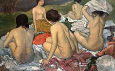 Tymon Niesiołowski, Kobiety na plaży, ok.1910 olej, płótno