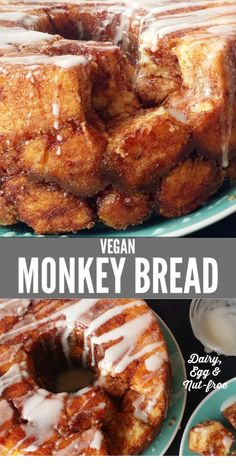 This recipe is called the BEST monkey bread because there really is no comparison to this homemade gooey sweet decadent VEGAN monkey bread Recipe vegan monkeybread nutfree dessert bread sweetbread dairyfree recipe Vegan Baking Recipes, Vegan Dessert Recipes, Vegan Sweets, Gourmet Recipes, Dessert Healthy, Vegetarian Desserts, Healthy Vegan Desserts, Bread Recipes, Cooking Recipes