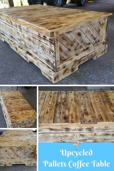 Upcycled Pallets Coffee Table | 101 Pallet Ideas